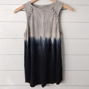 American Eagle Soft & Sexy Dip Dyed Tank Top Small